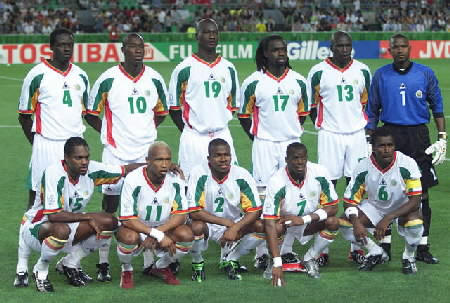 Team Senegal World Cup 2002